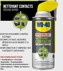 WD-40 Nettoyant Contacts Séchage Rapide(SPRAY 400 ML)