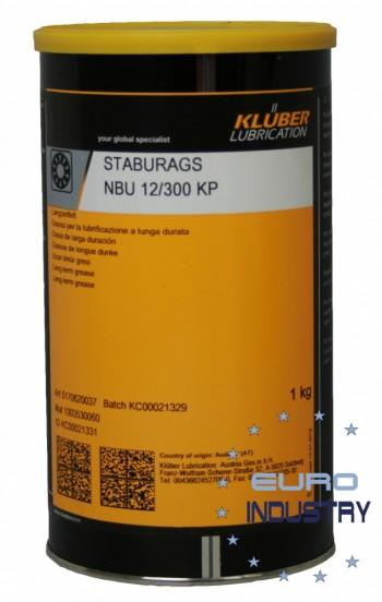 KLUBER STABURAGS NBU 12_300 KP Graisse longue durée pour roulements et paliers lisses (BOITE 1KG)